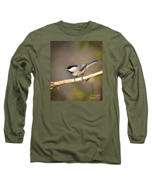 Carolina Chickadee  Long Sleeve T-Shirt by Kerri Farley