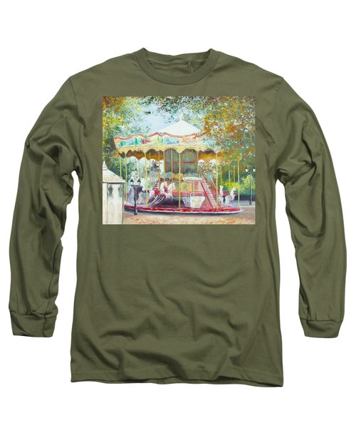 Carousel In Montmartre Paris Long Sleeve T-Shirt