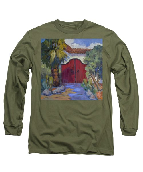 Casa Tecate Gate 2 Long Sleeve T-Shirt by Diane McClary