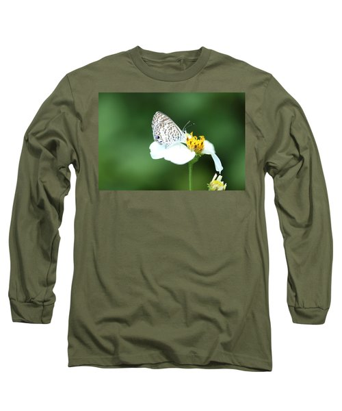 Long Sleeve T-Shirt featuring the photograph Cassius Blue On Wildflower by Greg Allore