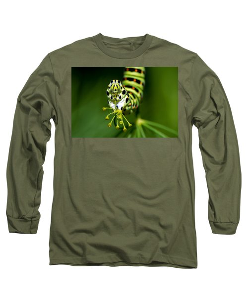 Caterpillar Of The Old World Swallowtail Long Sleeve T-Shirt