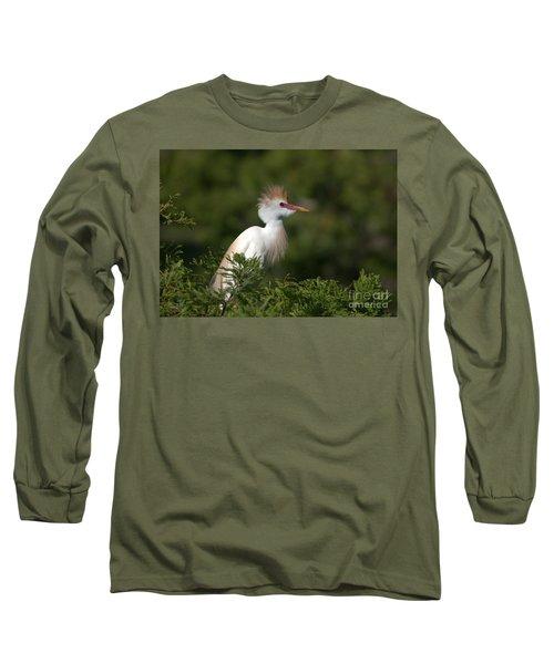 Cattle Egret No. 5 Long Sleeve T-Shirt