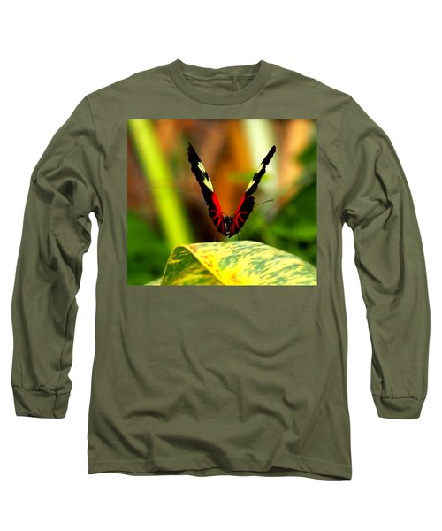 Long Sleeve T-Shirt featuring the photograph Cattleheart Butterfly  by Amy McDaniel