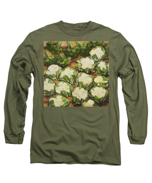 Cauliflower March Long Sleeve T-Shirt by Jen Norton