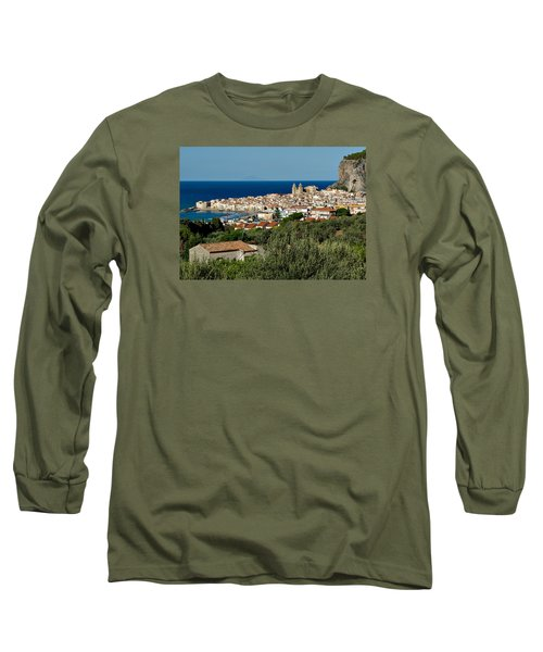 Cefalu Sicily Long Sleeve T-Shirt by Alan Toepfer