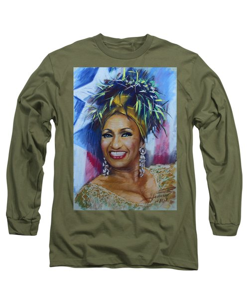 Celia Cruz Long Sleeve T-Shirt by Viola El