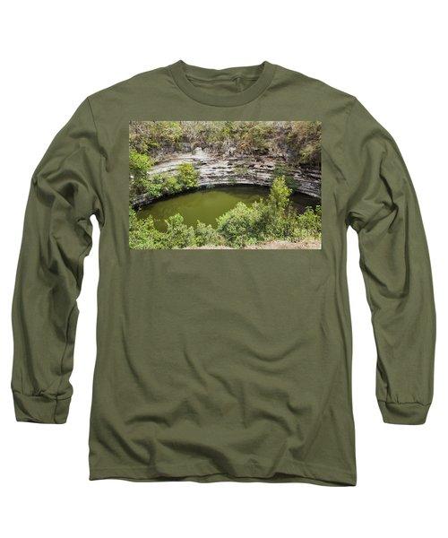 Cenote Sagrado At Chichen Itza Long Sleeve T-Shirt