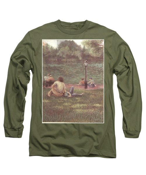 Central Park Nyc Long Sleeve T-Shirt by Walter Casaravilla