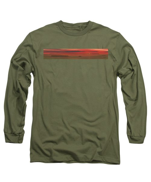 Chambers Island Sunset Long Sleeve T-Shirt