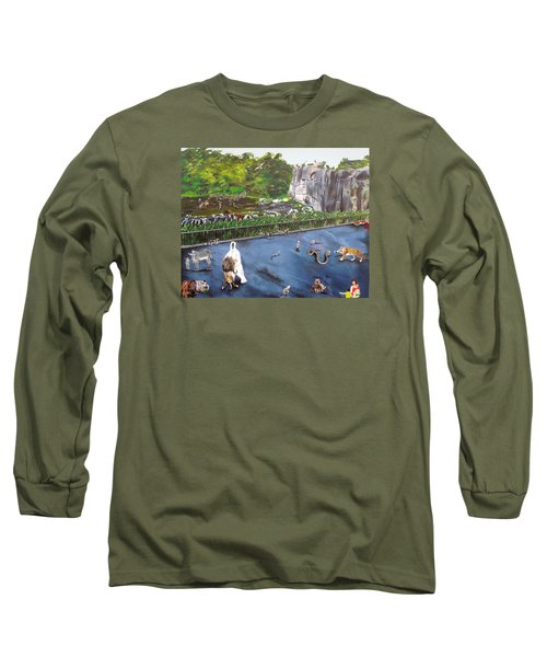 Chaos At The Garden Long Sleeve T-Shirt by Raymond Perez