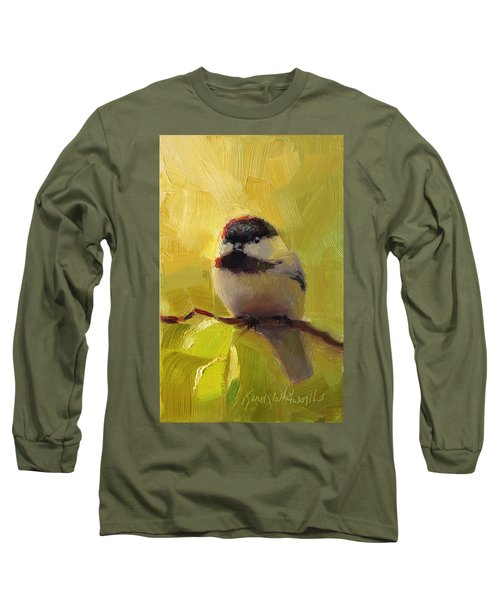 Chatty Chickadee - Cheeky Bird Long Sleeve T-Shirt