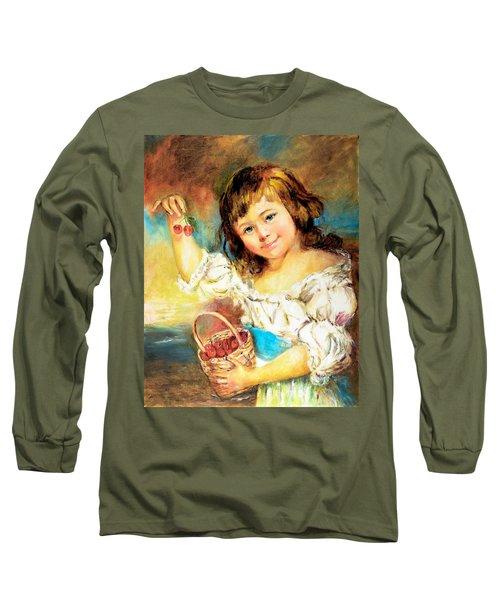 Cherry Basket Girl Long Sleeve T-Shirt