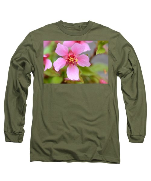 Cherry Blossom Long Sleeve T-Shirt by Lisa Phillips