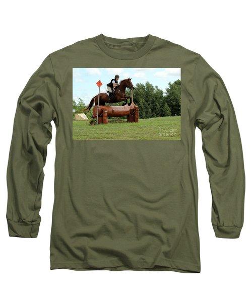 Chestnut Over Log Jump Long Sleeve T-Shirt