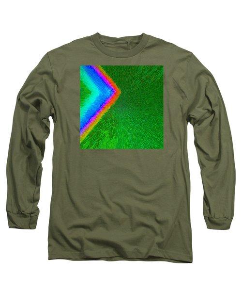 Chevron Rainbow C2014 Long Sleeve T-Shirt by Paul Ashby