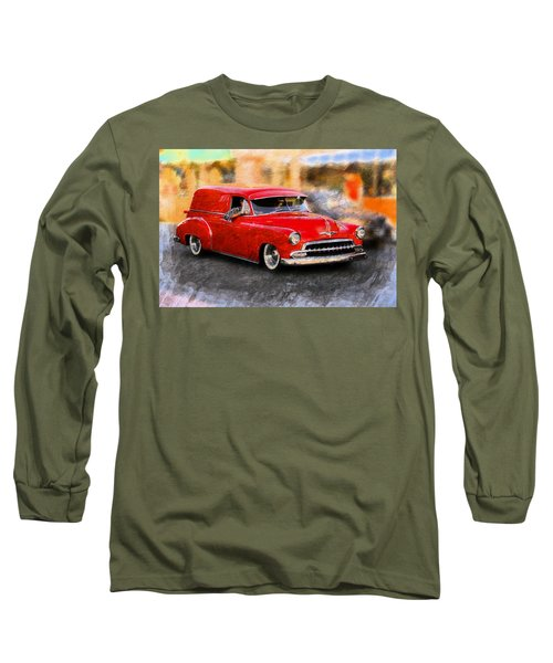 Classic Cars Long Sleeve T-Shirt featuring the photograph Chevy Street Rod by Aaron Berg