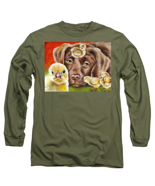 Chick Sitting Afternoon Long Sleeve T-Shirt