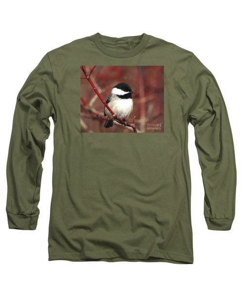Chickadee Long Sleeve T-Shirt by Susan  Dimitrakopoulos