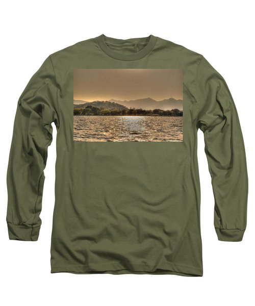 China Lake Sunset Long Sleeve T-Shirt