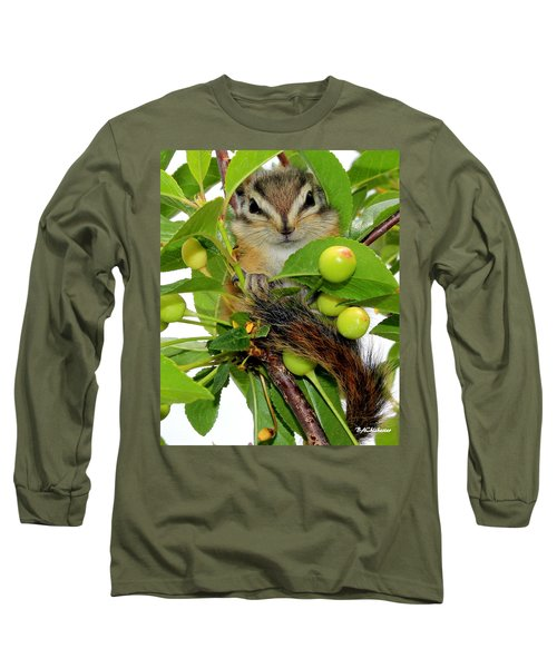 Long Sleeve T-Shirt featuring the photograph Chip Or Dale by Barbara Chichester