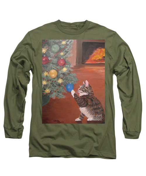 Christmas Kitty Cat Long Sleeve T-Shirt