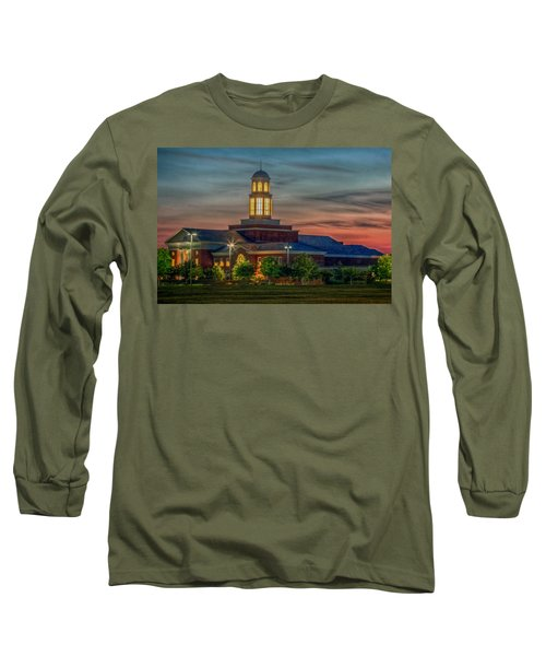 Christopher Newport University Trible Library At Sunset Long Sleeve T-Shirt