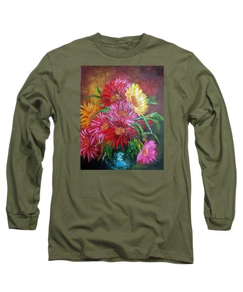 Chrysanthemum Long Sleeve T-Shirt by Katia Aho
