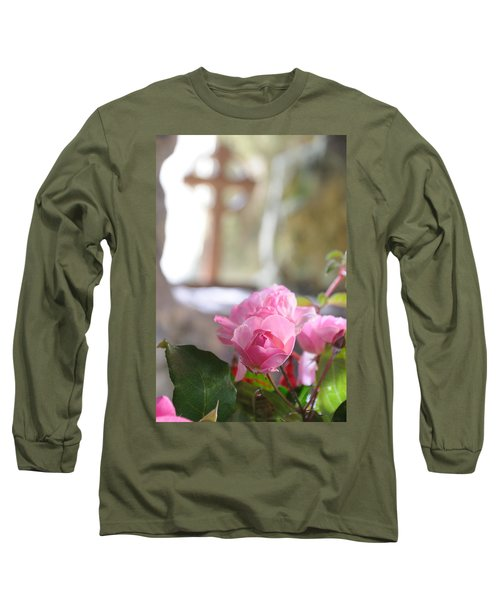 Church Flowers Long Sleeve T-Shirt by Jeremy Voisey
