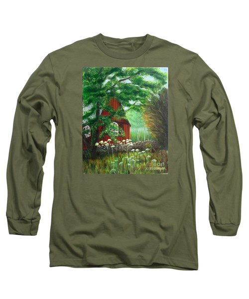 Church In The Glen Long Sleeve T-Shirt by Laurie Morgan