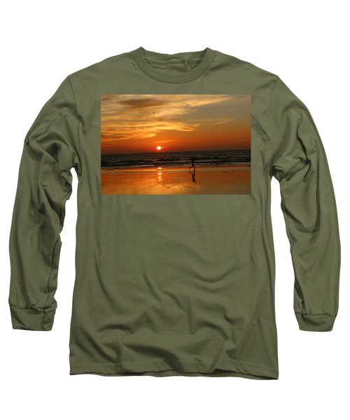 Clam Digging At Sunset - 3 Long Sleeve T-Shirt