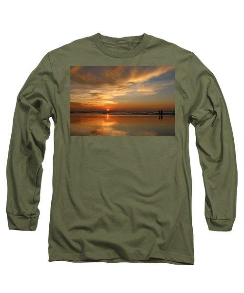 Clam Digging At Sunset - 4 Long Sleeve T-Shirt