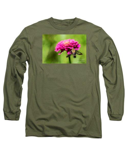 Clearwing Moth Long Sleeve T-Shirt by Debbie Green