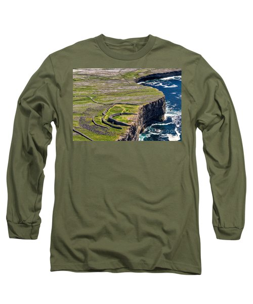 Long Sleeve T-Shirt featuring the photograph Cliffs Of Inishmoore by Juergen Klust
