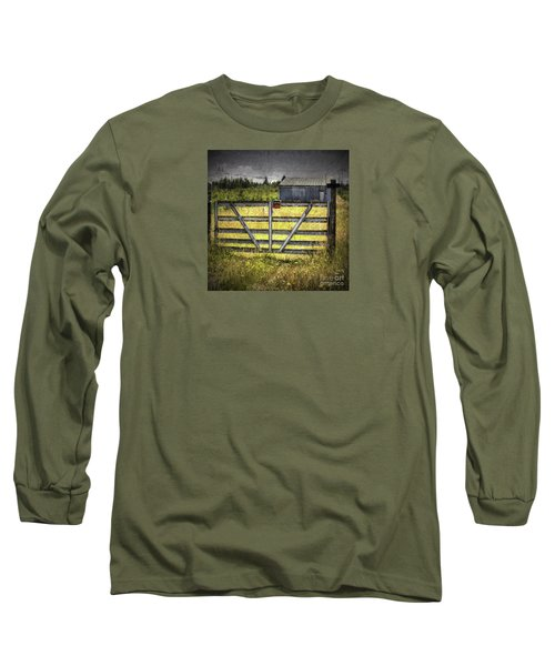 Long Sleeve T-Shirt featuring the photograph Closed Down by Jean OKeeffe Macro Abundance Art