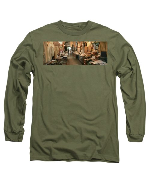 Clothing Stores In A Market, Souk Long Sleeve T-Shirt
