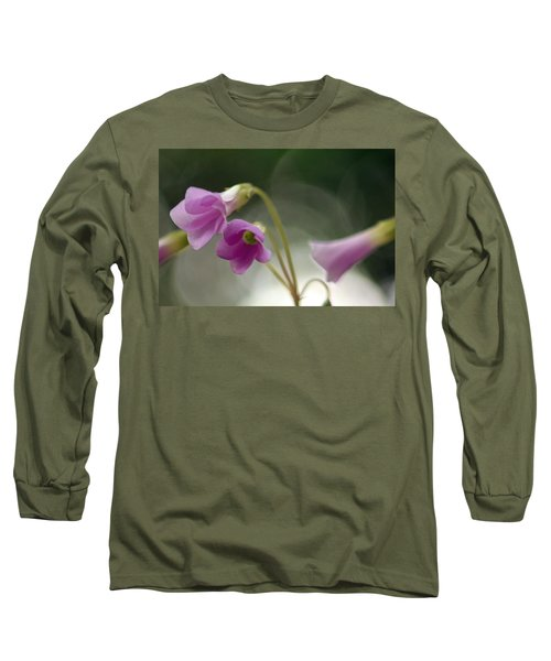 Long Sleeve T-Shirt featuring the photograph Clover Bells by Greg Allore