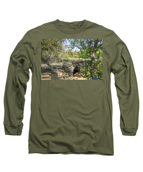 Clover Valley Park Bridge Long Sleeve T-Shirt by Jim Thompson