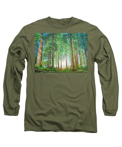 Coastal Redwoods Long Sleeve T-Shirt by Jane Girardot