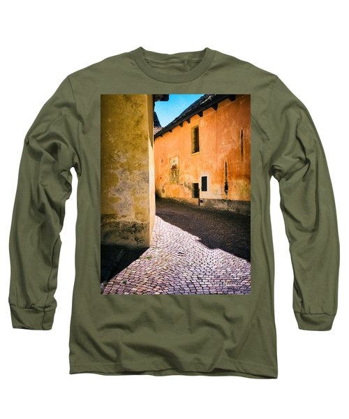 Long Sleeve T-Shirt featuring the photograph Cobbled Street by Silvia Ganora