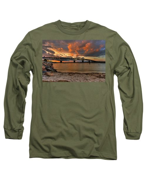 Coleman Bridge At Sunset Long Sleeve T-Shirt