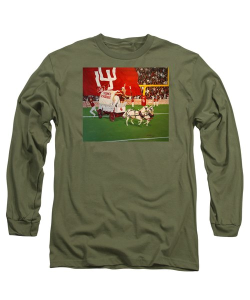 College Football In America Long Sleeve T-Shirt by Alan Lakin