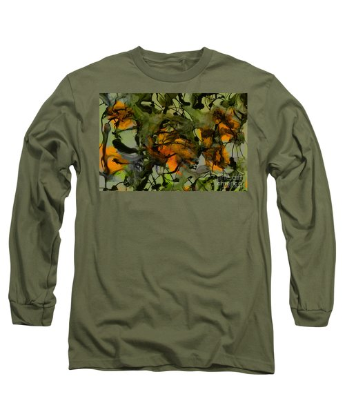 Color Abstraction Xvii Long Sleeve T-Shirt by David Gordon