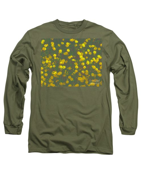 Color Flower Wall Long Sleeve T-Shirt