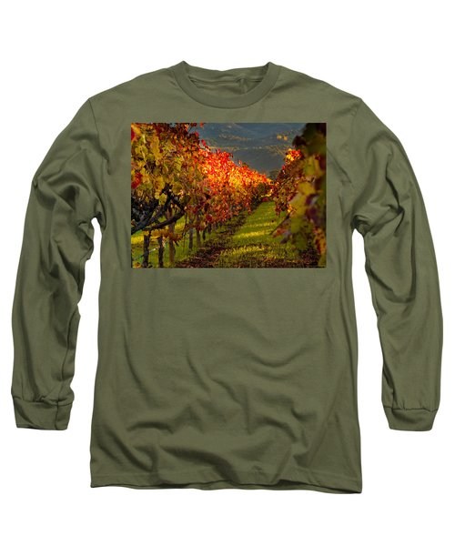 Color On The Vine Long Sleeve T-Shirt by Bill Gallagher