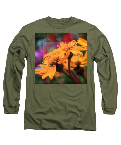Long Sleeve T-Shirt featuring the photograph Color Pizzaz With Collaged Textures by Sandra Foster