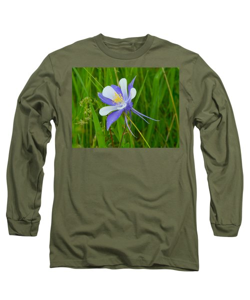 Colorado Columbine Long Sleeve T-Shirt by Dan Miller