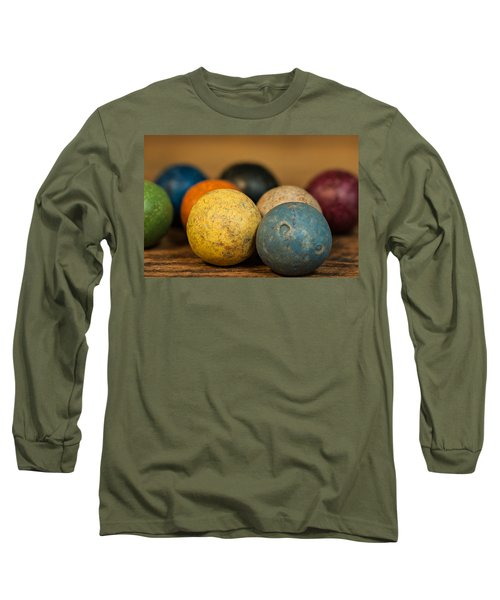 Colored Clay Marbles Long Sleeve T-Shirt