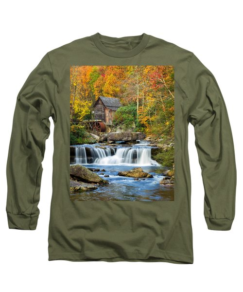 Colorful Autumn Grist Mill Long Sleeve T-Shirt