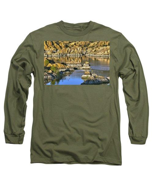 Colors In The Rocks At Watsons Lake Arizona Long Sleeve T-Shirt