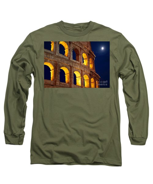 Colosseum And Moon Long Sleeve T-Shirt